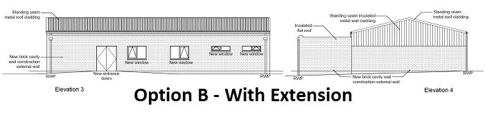 Option B - With Extension